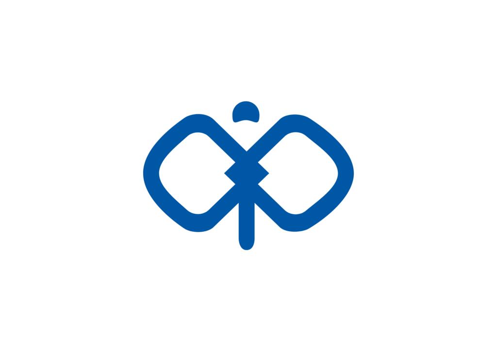 トンボの形をしたpispis様のロゴマーク