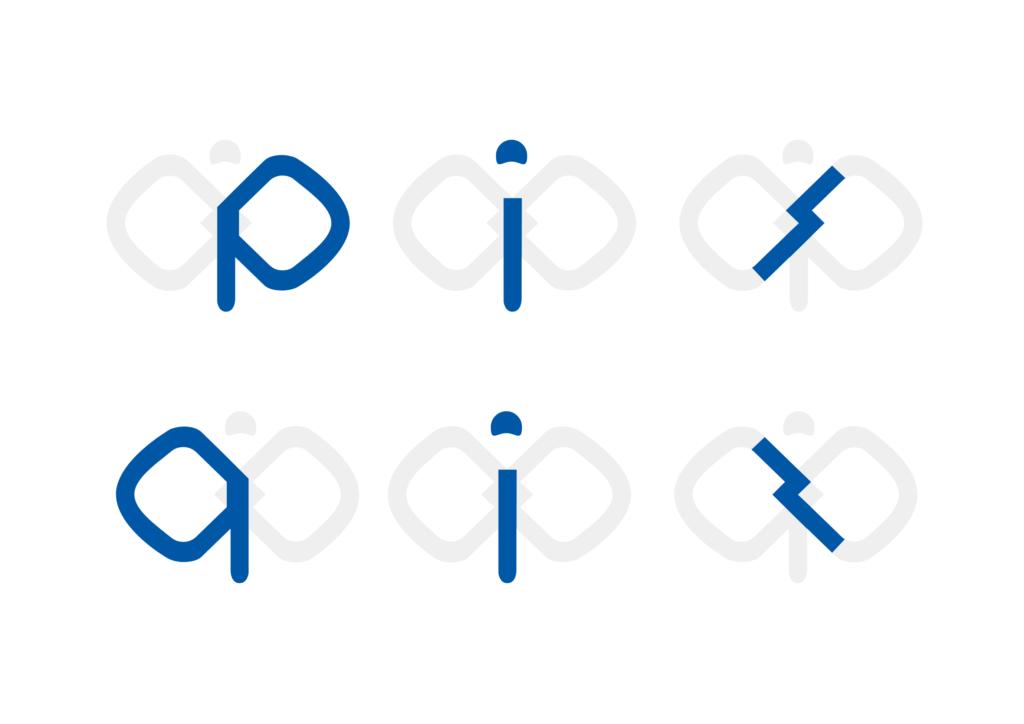 逆転という意味を込めたpispis様のロゴマーク